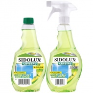 SIDOLUX Crystal Płyn do mycia szyb - lemon plus zapas