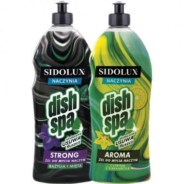 SIDOLUX Dish Spa Płyn do mycia naczyń - bazylia i mięta 1l + cytryna z karambolą 1l